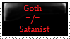 Goth Does Not Mean Satanist stamp by KathytheGoth