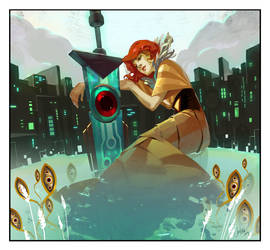 Transistor OST Album Art by JenZee