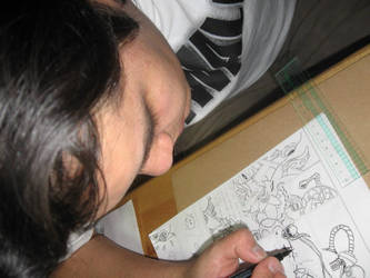 Makin of-About me Drawing :D by Fuckner
