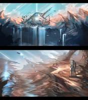 Sci-fi Concept Art Practice by anonamos701