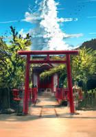 Shinto Torii by anonamos701