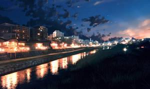 Riverside Eve by anonamos701
