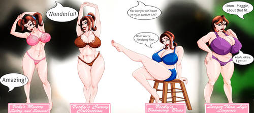 Maggie's Declining Career in Underwear Modeling by KingVego
