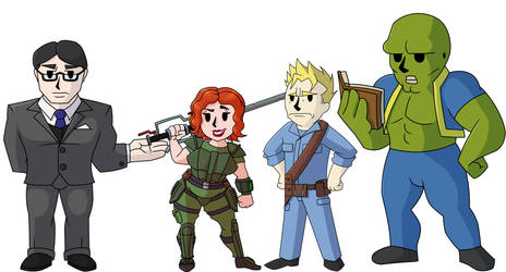 Commission - The Gang by KingVego