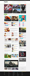 Magalla - Magazine PSD Template by bcubepl