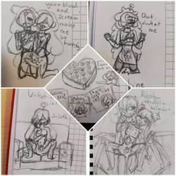 Valentine Special sketch (nsfw with potato censor) by MissTrox