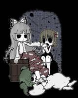 Mokou, Rumia and Kisume by Genkidown