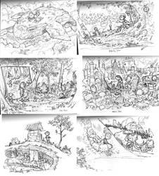 Sketches at Jury Duty.... by travisJhanson