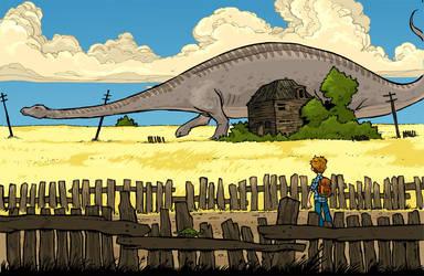 dakota dinosaur done by travisJhanson