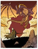 Dragon Stand Off by travisJhanson
