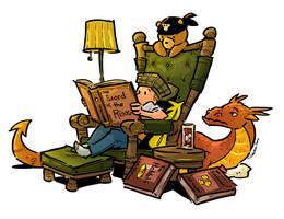 Reading Tolkien by travisJhanson