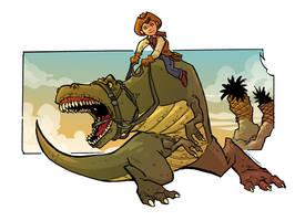 T-Rex Cowboy by travisJhanson
