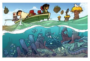 heading to the island- treasure hunt page 3 by travisJhanson
