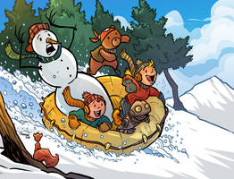 the Snow ride by travisJhanson