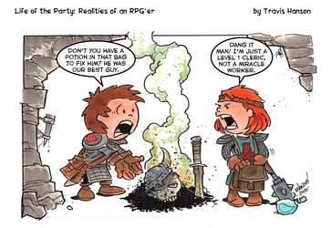 Level 1 clerics: RPG Comic by travisJhanson