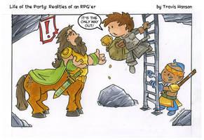 Centaurs and ladders : RPG Comic by travisJhanson