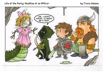 it might be a trap... rpg comic by travisJhanson
