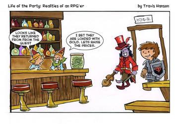 Rpg price gouging... comic  by travisJhanson
