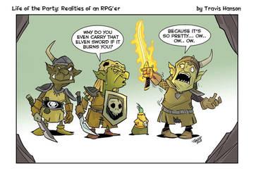 Goblins and elven blades  by travisJhanson