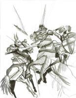 Knights by Kezay