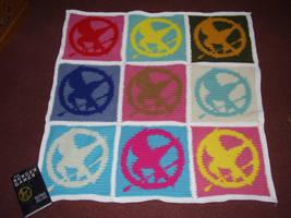 Mockingjay Pop Art Blanket by Shywalker