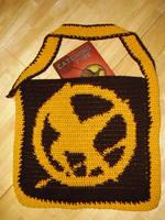 Mockingjay Pin Tote Bag by Shywalker