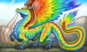 Rainbow dragon, Yao Chi by andrea-koupal