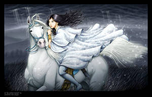 Juradith the White Rider by andrea-koupal