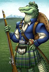 Lord Ian, Highlander Gator by andrea-koupal