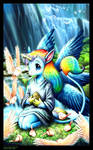 Unicorn child Marrise by andrea-koupal