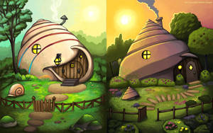 Shell houses by andrea-koupal