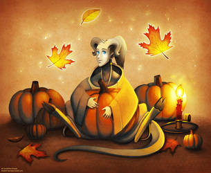 Pallas with Pumpkins by andrea-koupal
