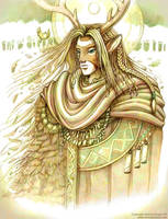Drawing of Cernunnos by andrea-koupal