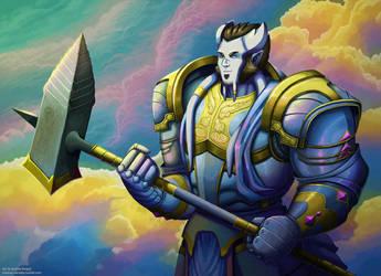 Barnaby in Vindicator Armor by andrea-koupal