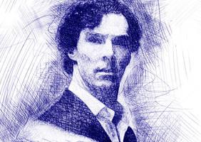 Sherlock Holmes Fanart by h-leao