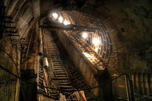 Escalator shaft by Ssaash