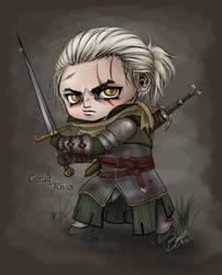 Chibi-tized: Geralt of Rivia by ValtirFaye