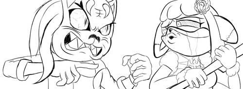 Halloween Monster SMACK DOWN! Shu Ling VS Scarzzy! by Scarzzy