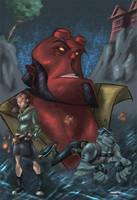 Cheeks Hellboy by Kane79