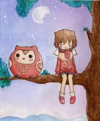 Owl girl by scilk