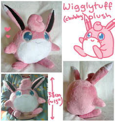 chubby wigglytuff plush by scilk