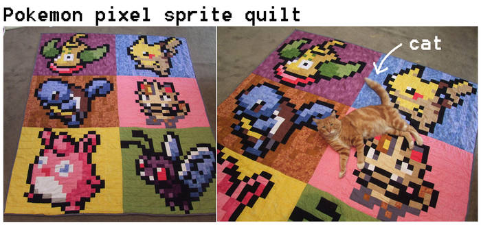 Pokemon Pixel quilt by scilk