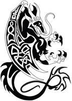 Commish: Celtic Dragon 2 by LittleMeesh