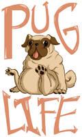T-Shirt Design: PUG LIFE by LittleMeesh