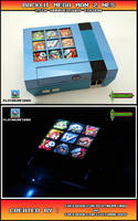 Backlit Mega Man 2 NES - 25th Anniversary Edition by Platinumfungi