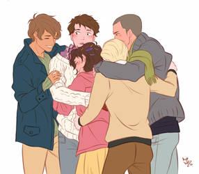group hug by Azeher