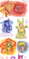Le watercolor dump by SirPrinceCharming