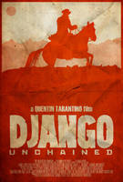 The D is Silent - Django Unchained Poster by edwardjmoran