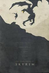 Dawning Fire - Skyrim Poster by edwardjmoran