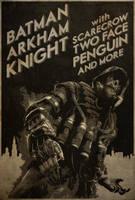 Be Afraid! - Batman: Arkham Knight Neo-Noir Poster by edwardjmoran